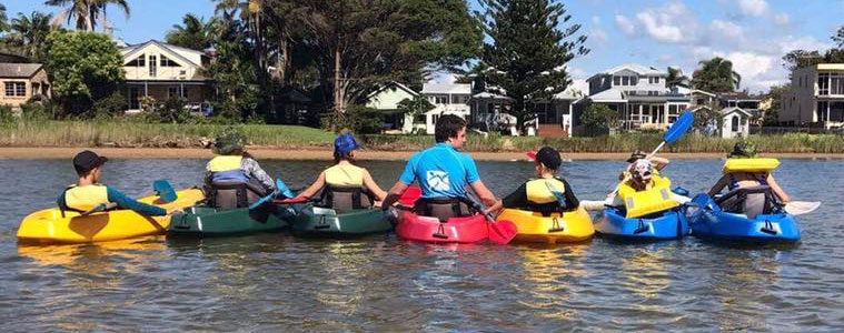 learn to kayak northern beaches