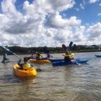 school holidays kayaking northern beaches